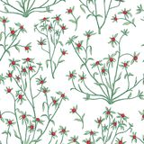 Floral seamless pattern. Flower background. Flourish wallpaper w Royalty Free Stock Photos