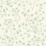 Floral leaves seamless pattern. Wild nature background. Flourish Stock Image