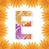 Floral Letter E design template. Mother's Das flower logo type design concept of Abstract alphabet logo. Floral Letter E conceptual design template for stock photo