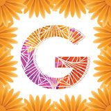 Floral Letter G design template. Mother's Das flower logo type design concept of Abstract alphabet logo. Floral Letter G conceptual design template for stock photography