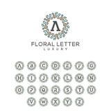 Floral Letter Pack Concept illustration vector template stock illustration