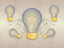 Floral light bulb Royalty Free Stock Photography