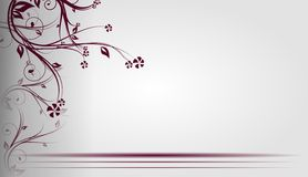 Floral light gray background Royalty Free Stock Image