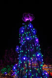 Floral lights christmas tree Royalty Free Stock Photo