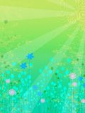 Floral  like background. Floral background in green blue and yellow Royalty Free Stock Photos