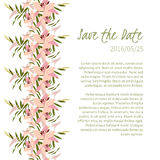 Floral lily retro vintage background Royalty Free Stock Photo