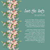 Floral lily retro vintage background Stock Images