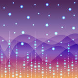 Floral line on purple light background vector Stock Photos