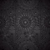 Floral line work seamless pattern Royalty Free Stock Photos