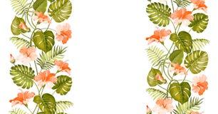 Floral linear tile design Stock Image