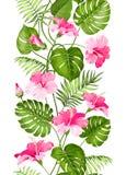 Floral linear tile design Stock Photo