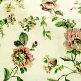 Floral linen background. With traditional victorian roses pattern, square toned image, instagram effect Stock Photography