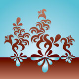 Floral_lines Images stock