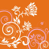 Floral_lines. Vector ornament In flower style Royalty Free Stock Images
