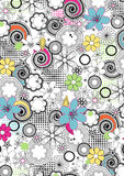 Floral lines pattern. Vector illustration of an abstract floral repeat pattern Royalty Free Stock Photos