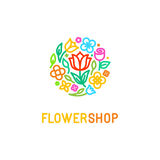 Floral logo design element Royalty Free Stock Photos