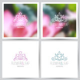 Floral logo set Stock Photography