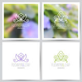 Floral logo set Stock Images