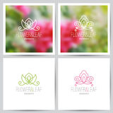 Floral logo set Royalty Free Stock Image