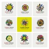 Floral logo set for your design Stock Images