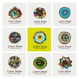 Floral logo set for your design Stock Image