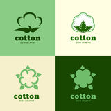 Floral logo template, cotton and wool clothes. Abstract design c Royalty Free Stock Photos