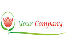 Floral logo for  your company Stock Image