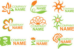 Floral logos Stock Photography
