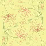 Floral lotus flower background Stock Photography