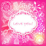 Floral Love background. Vector illustration, can be used as crea Royalty Free Stock Image