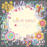 Floral Love background. Vector illustration Stock Images