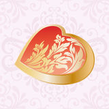 Floral love heart Royalty Free Stock Photo