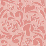 Floral love seamless pattern Royalty Free Stock Photos