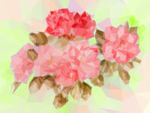 Floral Low Poly Pattern Royalty Free Stock Image