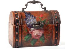 Floral Lunchbox. A hand painted lunch box Royalty Free Stock Photos