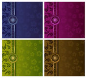 Floral Luxury Backgrounds Set Royalty Free Stock Images