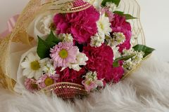 Floral luxury bouquet fur Royalty Free Stock Photo