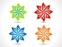 Floral múltiple colorido artístico abstracto Imagen de archivo libre de regalías