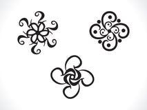 Floral múltiplo artístico abstrato Imagens de Stock