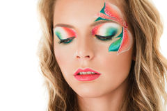 Floral make-up Stock Photography