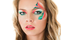 Floral make-up Stock Image