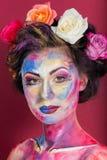 Floral makeup Στοκ Εικόνες