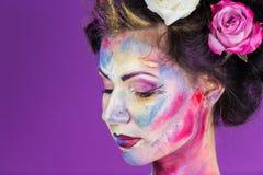 Floral makeup Στοκ Φωτογραφία