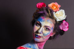 Floral makeup Stock Photos