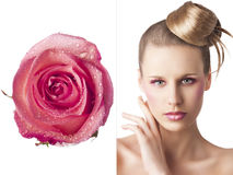 The floral makeup, front Royalty Free Stock Image