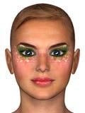 Floral makeup portrait Stock Photos