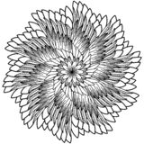 Floral mandala Διανυσματική απεικόνιση zentangl Σχέδιο Doodle Στοχαστικές ασκήσεις Αντι πίεση βιβλίων χρωματισμού απεικόνιση αποθεμάτων
