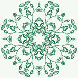 Floral mandala Εθνικά διακοσμητικά στοιχεία Hand-drawn Στοκ Εικόνες