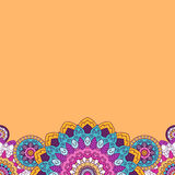 Floral mandala bright colored border. Vector illustration. Floral mandala bright colored border. Vector illustration Stock Photos