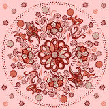 Floral mandala with decorative ornament Royalty Free Stock Photography
